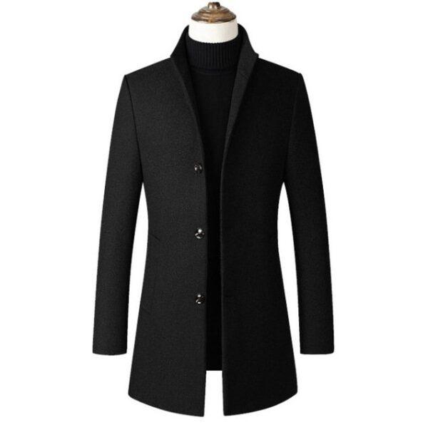 Manteau en laine slim pas cher