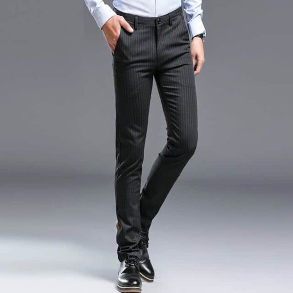 Pantalon de costume rayé mode