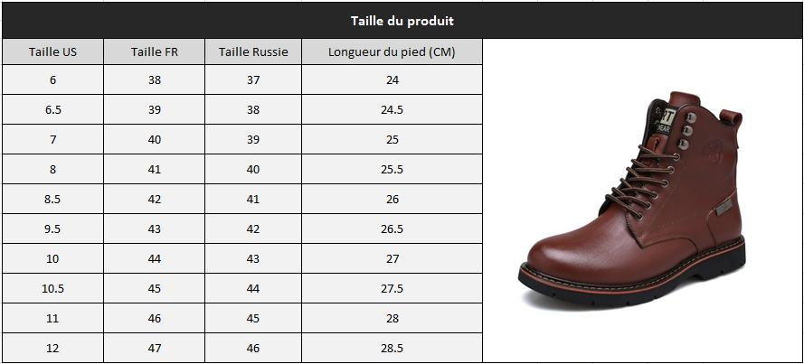 Bottes homme bout rond taille1