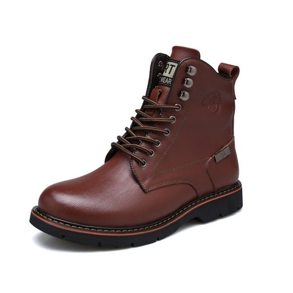 Bottes homme bout rond