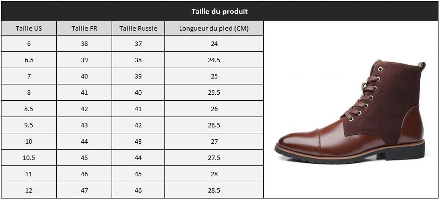 Bottes homme chic taille