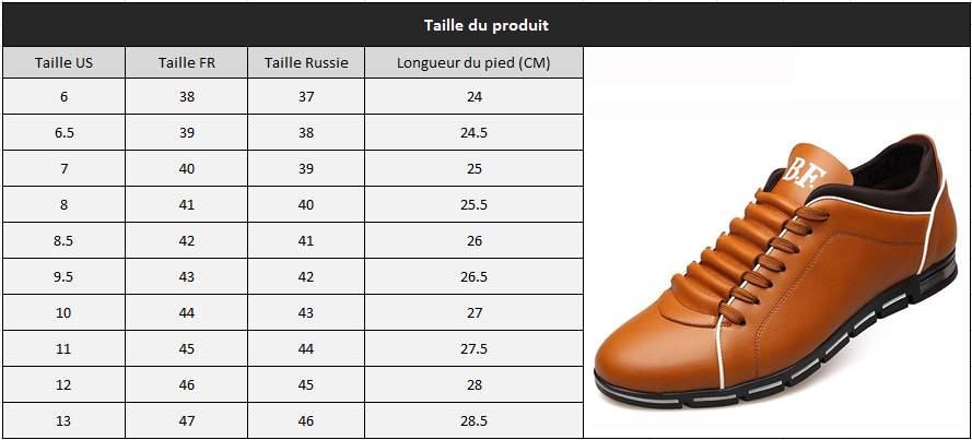 Chaussure décontracté homme taille1