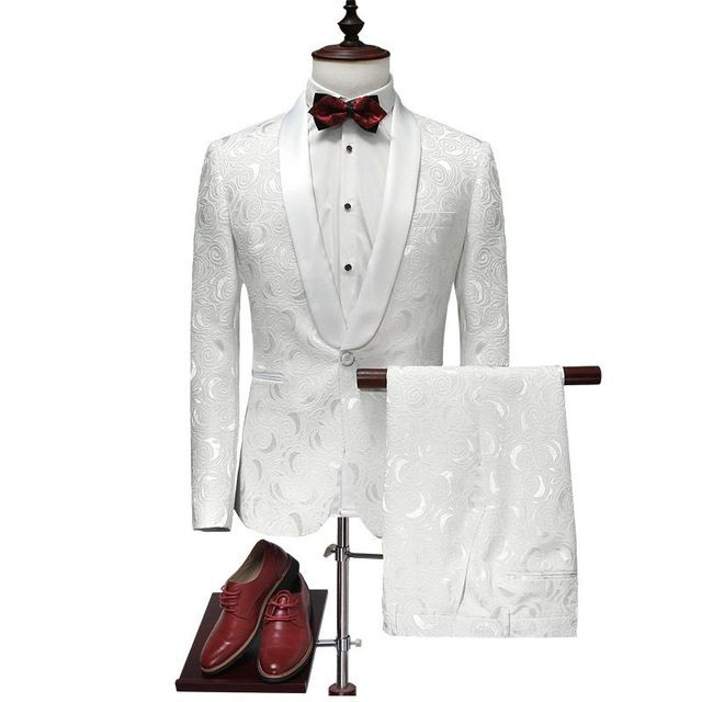 Costume blanc homme mode
