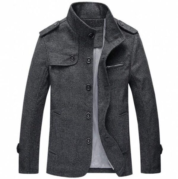 Trench homme col montant