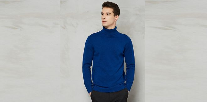 pull col roulé homme mode