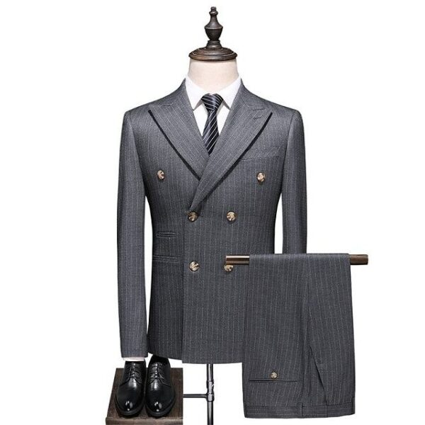 Costume homme double boutonnage mode