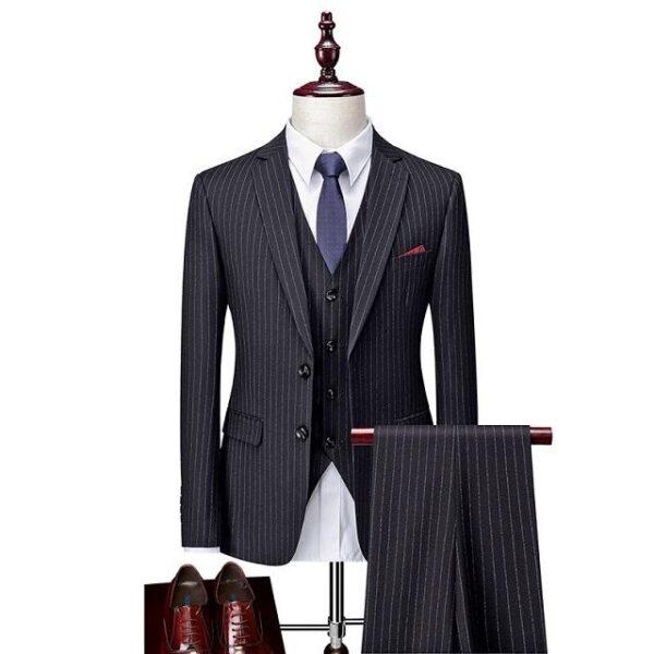 Costume rayé homme mode