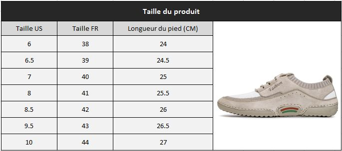 Chaussure fashion taille