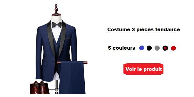 Costume 3 pièces homme tendance