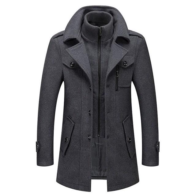 Manteau hiver en laine mode
